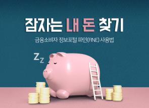 [카드뉴스] 잠자는 내 돈 찾기, 금융소비자 정보포털 파인(FINE) 사용법